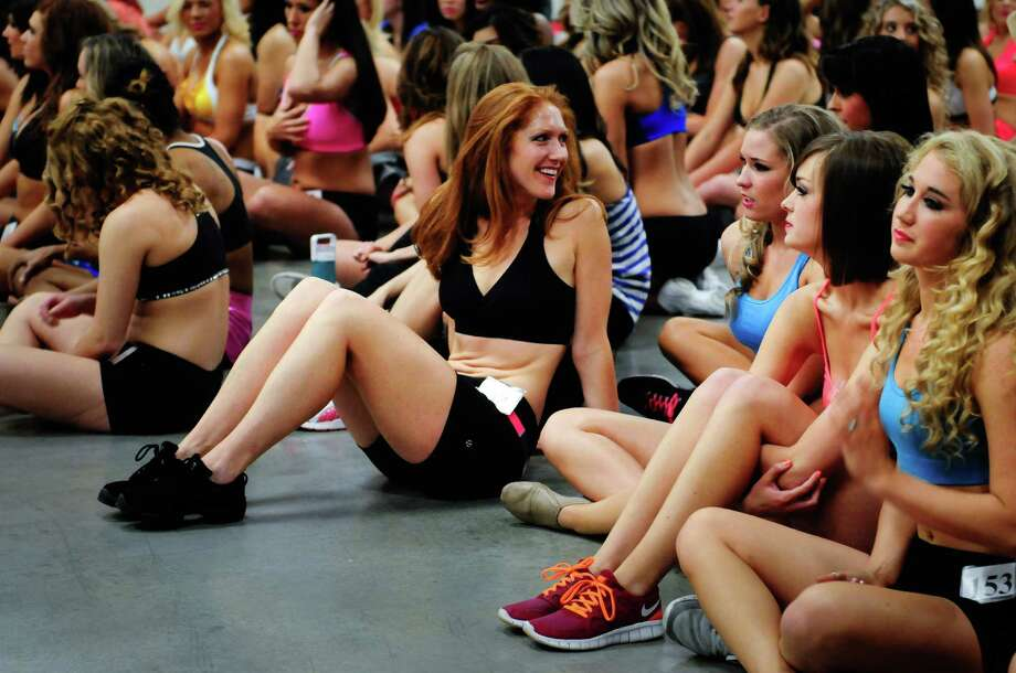 Contestants wait to perform during the first round. Tryouts were conducted in groups of three, in which contestants had a minute to perform a routine of their choosing. Photo: LINDSEY WASSON / SEATTLEPI.COM