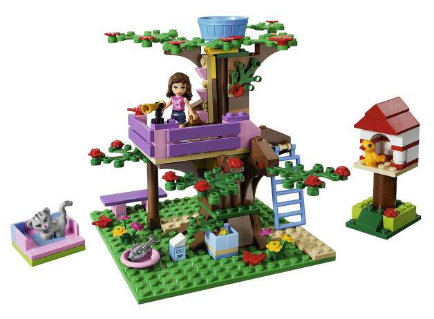 "In 2012, the Lego Group launches a new product line targeted for girls called ""Lego Friends.""  This set is called ""Olivia's Treehouse"" Photo: Lego"