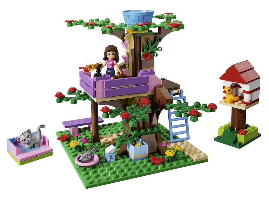 """In 2012, the Lego Group launches a new product line targeted for girls called """"Lego Friends.""""  This set is called """"Olivia's Treehouse"""" Photo: Lego"""
