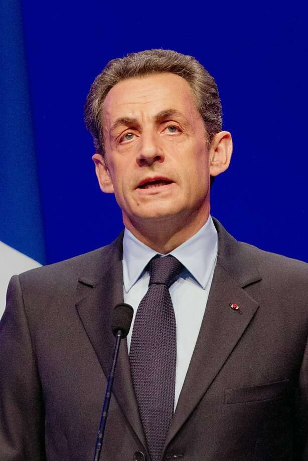 PARIS, FRANCE - APRIL 22:  France's President and Union for a Popular Movement (UMP) candidate for the 2012 presidential election Nicolas Sarkozy delivers a speech after the first round of the 2012 French Presidential election at Maison de la Mutualite on April 22, 2012 in Paris, France. French citizens will vote in the second round of the presidential election, with two finalists facing off, on May 6. (Photo by Marc Piasecki/Getty Images) Photo: Marc Piasecki, Getty Images