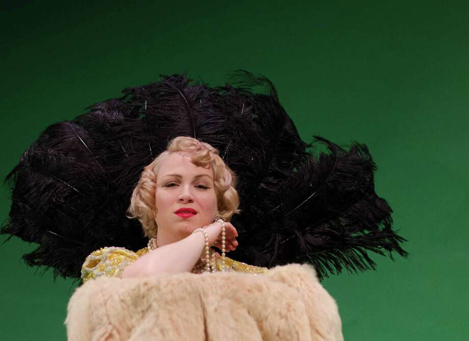 "Christie Beckham is convincing as Mae West in ""Dirty Blonde.""  Photo: Cameo Theatre"