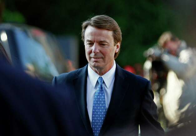 Former U.S. Sen. and presidential candidate John Edwards arrives at federal court in Greensboro, N.C., Monday. Prosecutors and defense lawyers will begin making their case to jurors on whether the former presidential candidate violated federal campaign finance laws. Photo: AP