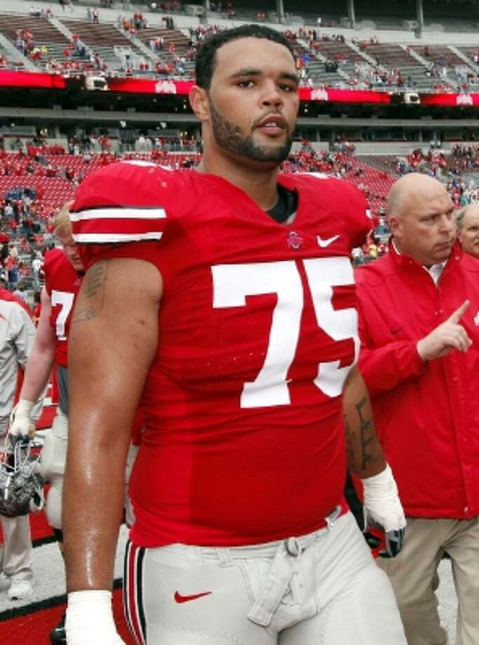 Mike Adams, OT, Ohio State: Adams has run into some issues off the field recently that could cause him to slide, but he has quick feet and can play in the zone scheme. (ASSOCIATED PRESS)