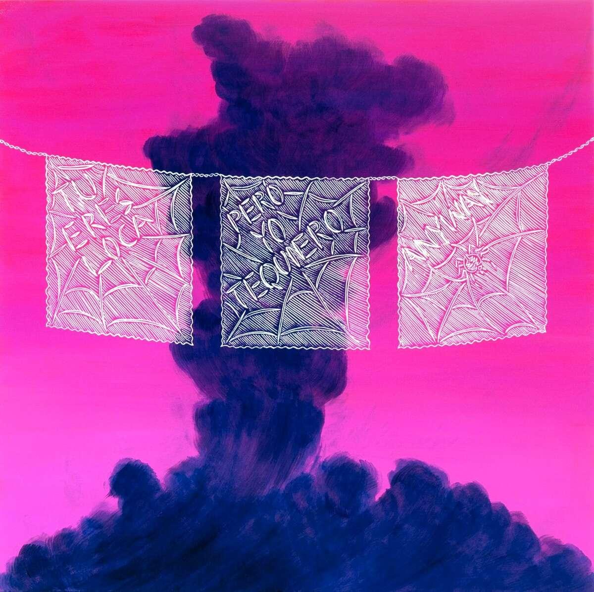 "Ricky Armendariz's painting ""Tú Eres Loca Pero I Like It"" is about ""toxic love, forbidden love."""
