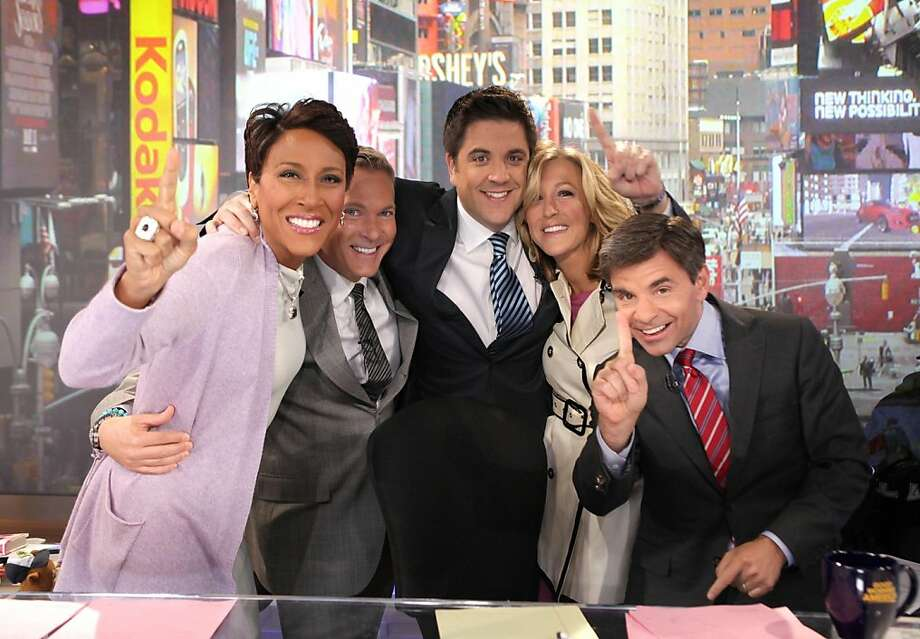 "GOOD MORNING AMERICA - ""Good Morning America"" drew 5.147 million total viewers for the week of April 9th, 2012, to rank No. 1 for the week. The anchors celebrated on ""Good morning America,"", 4/19/12, airing on the ABC Television Network. Photo: Fred Lee, ABC"
