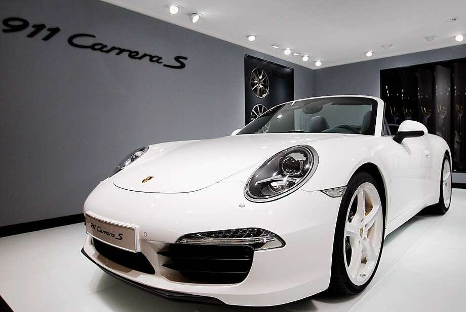 BEIJING, CHINA - APRIL 23:  A Porsche 911 Carrera S car is displayed during the media day of the 2012 Beijing International Automotive Exhibition at beijng International Exhibition Center on April 23, 2012 in Beijing, China. Auto China is China's leading auto show and many of the world's carmakers are in attendance despite lagging sales in the country. (Photo by Lintao Zhang/Getty Images) Photo: Lintao Zhang, Getty Images