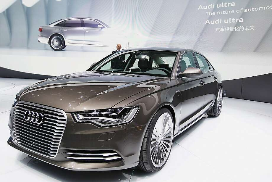 BEIJING, CHINA - APRIL 23:  A Audi A6L e-tron conception car is displayed during the media day of the 2012 Beijing International Automotive Exhibition at beijng International Exhibition Center on April 23, 2012 in Beijing, China.  Auto China is China's leading auto show and many of the world's carmakers are in attendance despite lagging sales in the country.  (Photo by Lintao Zhang/Getty Images) Photo: Lintao Zhang, Getty Images