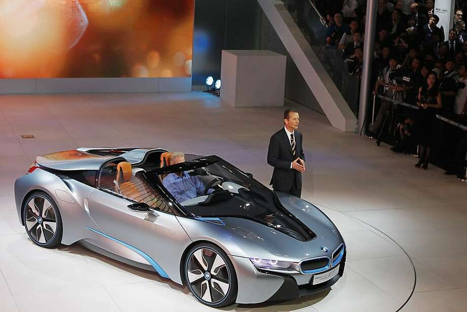 BEIJING, CHINA - APRIL 23:  BMW presents the new  i8 concept car is displayed during the media day of the 2012 Beijing International Automotive Exhibition at beijng International Exhibition Center on April 23, 2012 in Beijing, China. Auto China is China's leading auto show and many of the world's carmakers are in attendance despite lagging sales in the country. (Photo by Lintao Zhang/Getty Images) Photo: Lintao Zhang, Getty Images