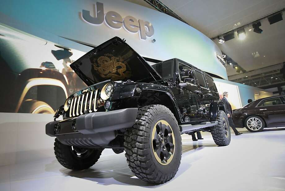 A Jeep Wrangler 'Dragon' Design car is on display at the Beijing International Auto Exhibition in Beijing, China, Monday, April 23, 2012.  (AP Photo/ Vincent Thian) Photo: Vincent Thian, Associated Press