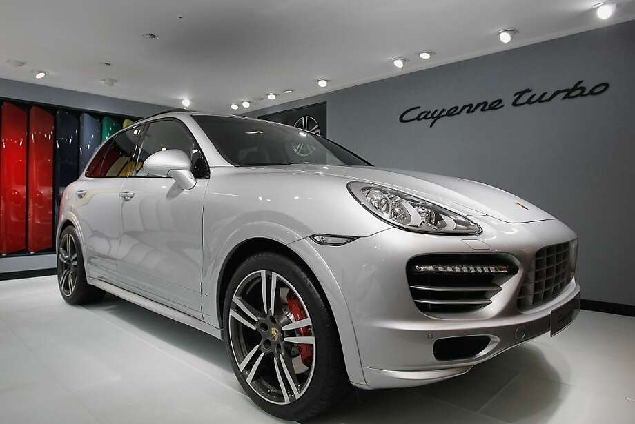 BEIJING, CHINA - APRIL 23: A Porsche Cayene Turbo car is displayed during the media day of the 2012 Beijing International Automotive Exhibition at beijng International Exhibition Center on April 23, 2012 in Beijing, China.  Auto China is China's leading auto show and many of the world's carmakers are in attendance despite lagging sales in the country. (Photo by Lintao Zhang/Getty Images) Photo: Lintao Zhang, Getty Images