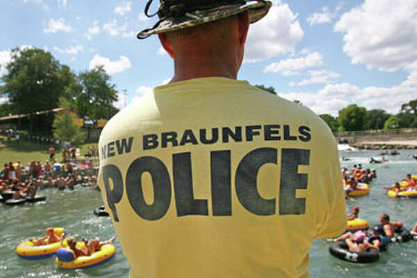 New Braunfels police are cracking down on noise, volume drinking devices and Jell-O shots on the Comal River, the shorter of the two tubing rivers that run through this city about 30 miles northeast of San Antonio. The City Council has upped to $500 the maximum fine for violating a noise ordinance that says music from stereos shouldn't be heard more than 50 feet away. It also banned beer bongs and is considering more bans on evening noise and Jell-O shots.  About 70 percent of the city's annual tourism revenue comes during the summer months, most from water recreation.  Sharon Steinmann/ Houston Chronicle