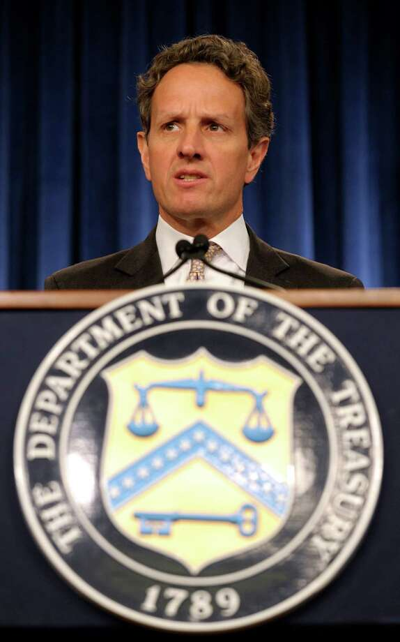 Treasury Secretary Timothy Geithner warns that the government's two largest benefit trust programs will be running out of money. Photo: Susan Walsh, Associated Press