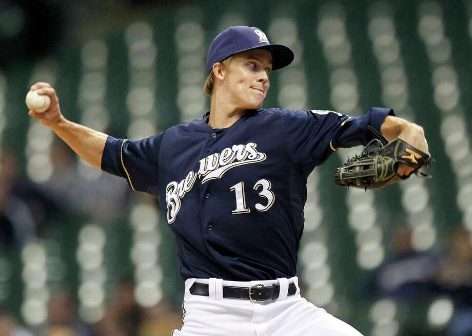 No. 11 – Zach Greinke Pitcher | Los Angeles Dodgers$28 million Photo: JEFFREY PHELPS, Associated Press / FR59249 AP