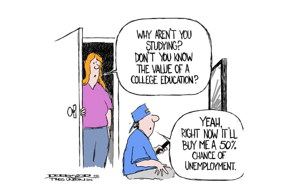 1 in 2 recent college grads is unemployed. Photo: John De Rosier