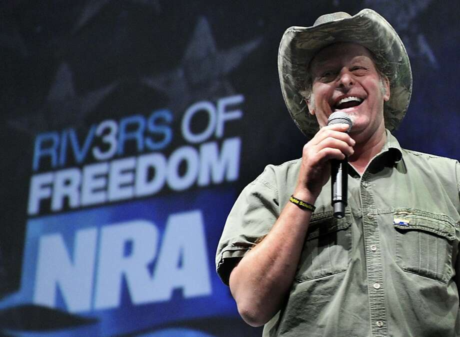 Musician and gun-rights activist Ted Nugent addresses a seminar at the National Rifle Association's convention in Pittsburgh in May 2011. Photo: Gene J. Puskar, Associated Press