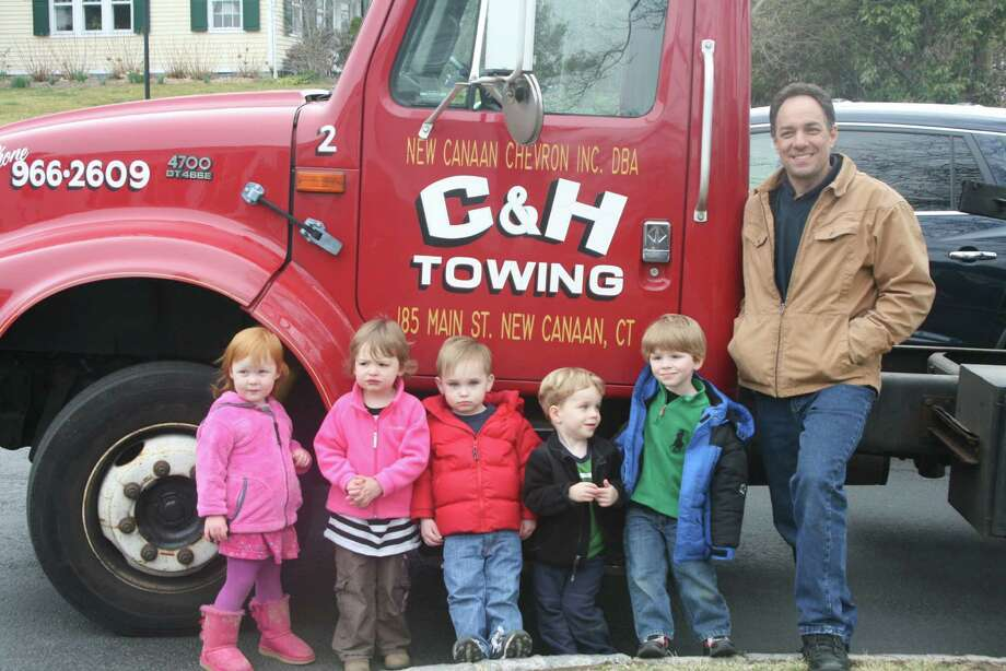 Pictured are Isla Milla, Olivia Edwards, James Bilden, Caleb May, Liam Campbell and Steve Gaeta of C&H Auto. Photo: Contributed Photo