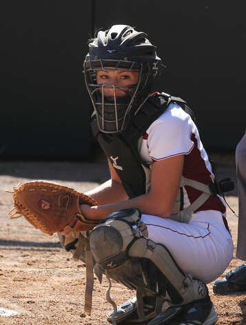 Ashley Clark was stellar behind the plate again for Jasper this year. Photo: Jason Dunn
