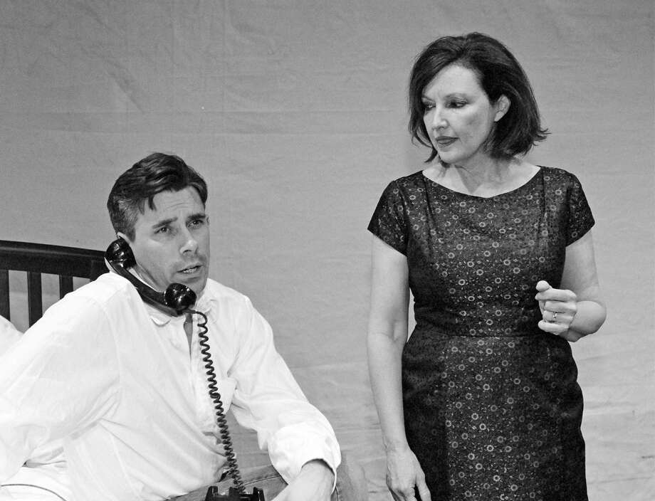 Chance Wayne (Gabriel Morrow) and Princess Kosmonopolis (Lynne Bolton) are seen engaged in a pivotal moment in the Town Players of New Canaanís production of Tennessee Williamsí drama ìSweet Bird of Youth.î Photo: Contributed Photo