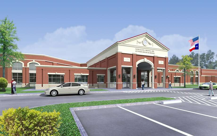 Gerald Irons Sr. Junior High School will open in the fall of 2012 and will serve seventh-and eighth-graders from the Oak Ridge High School feeder zone. Photo: Handout