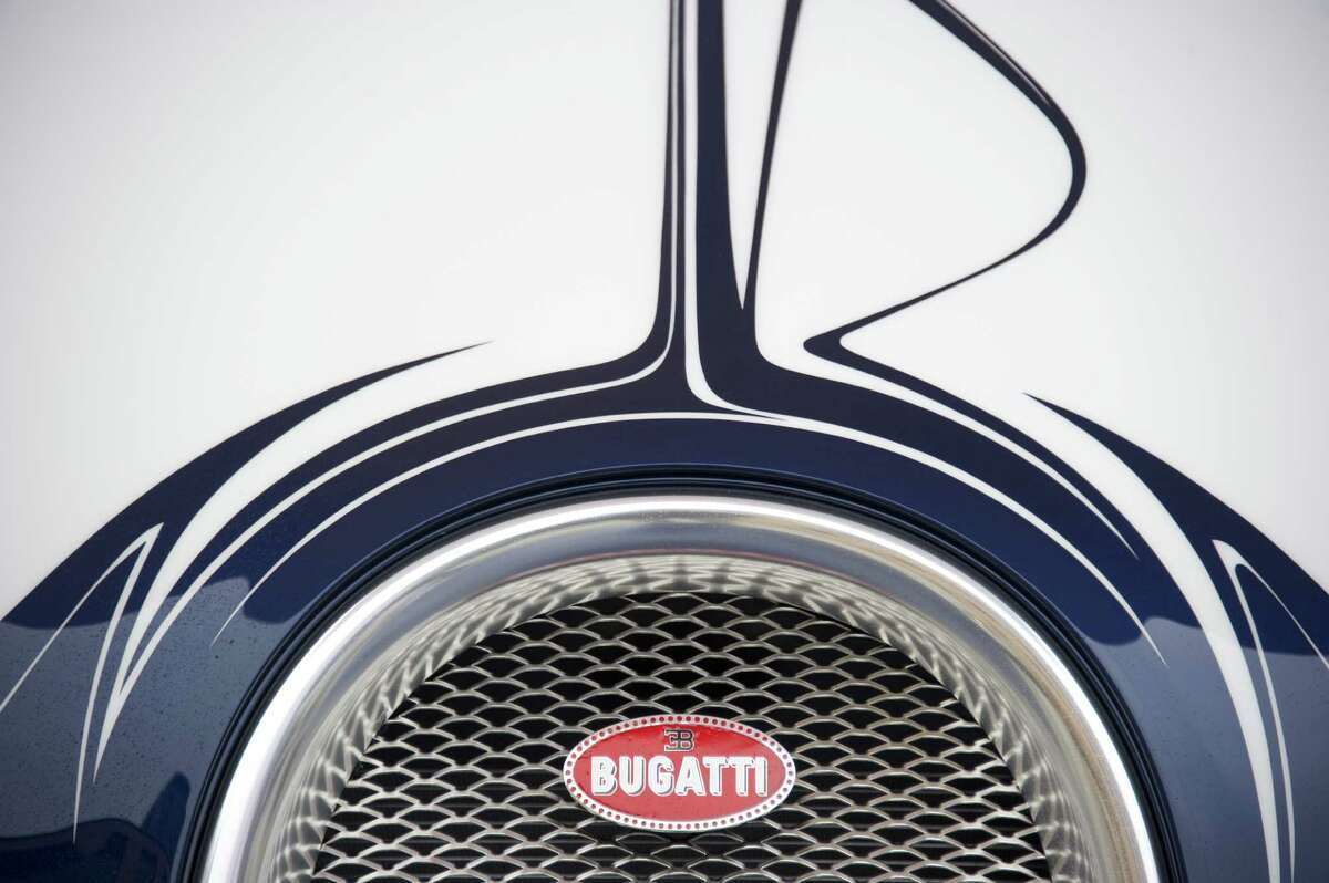 View of the grill of a newly-unveiled Bugatti Veyron 16,4 Grand Sport