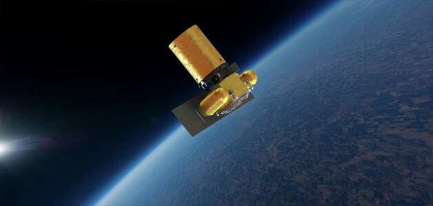 Planetary Resources' Arkyd-101 space telescope is depicted in low-Earth orbit. The company plans to use the telescope to gather data from near-Earth asteroids. Photo: Planetary Resources