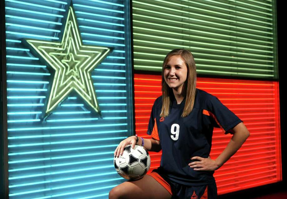 Abigail Koenigs, Brandeis soccer, photographed at the Institute of Texan Cultures. Helen L. Montoya/San Antonio Express-News Photo: HELEN L. MONTOYA, San Antonio Express-News / ©SAN ANTONIO EXPRESS-NEWS