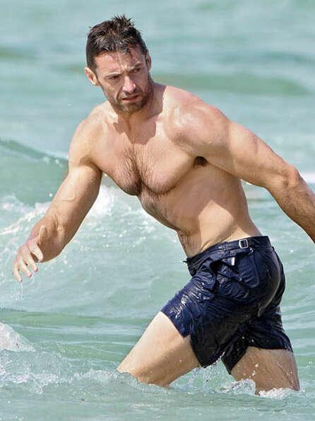 Hugh Jackman beach Orlebar Brown
