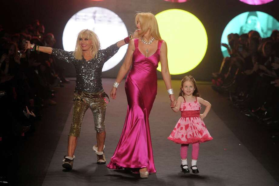 NEW YORK, NY - FEBRUARY 13:  Betsey Johnson, Lulu Johnson, and Layla Johnson walk the runway at the Betsey Johnson Fall 2012 fashion show during Mercedes-Benz Fashion Week at The Theatre at Lincoln Center on February 13, 2012 in New York City. Photo: Frazer Harrison, Getty Images For Mercedes-Benz F / 2012 Getty Images