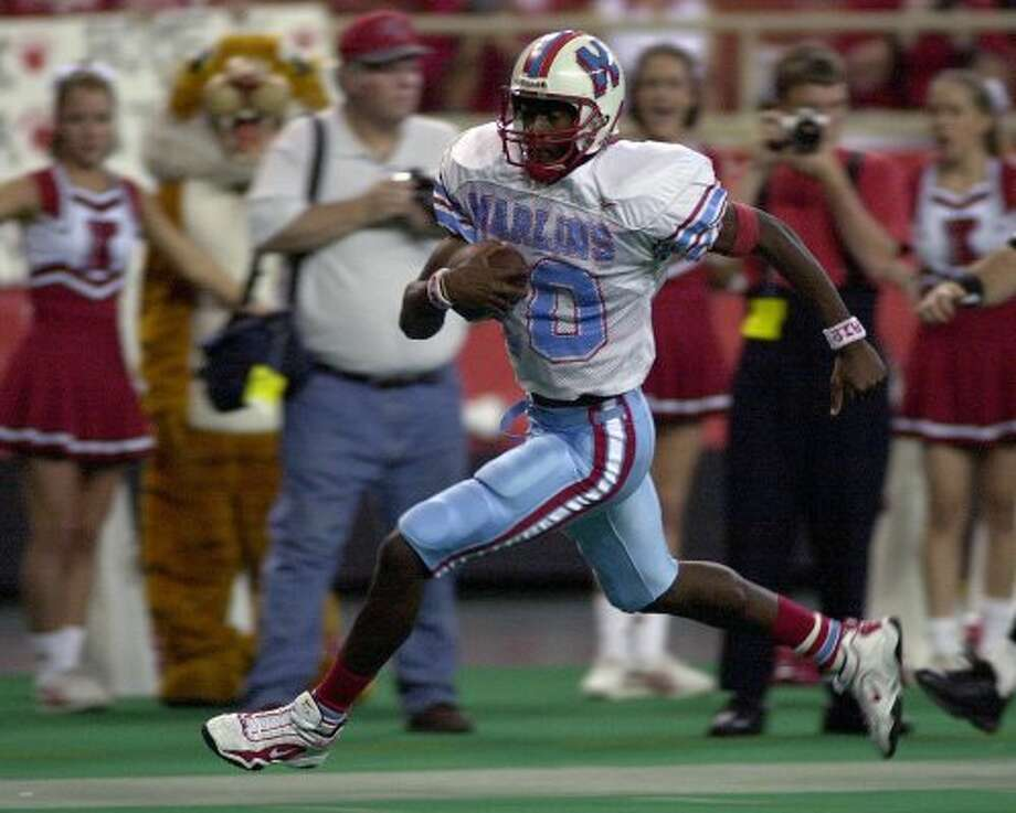 Vince Young, Houston Madison (1999-2001) Young accounted for 12,987 total yards in three years as a starter at Madison. He was Heisman Trophy runner-up in 2005, when he led the University of Texas to the BCS national championship and accounted for 467 yards in a 41-38 Rose Bowl win over USC. He has played six NFL seasons with the Titans and Eagles.  (Christobal Perez / Houston Chronicle)