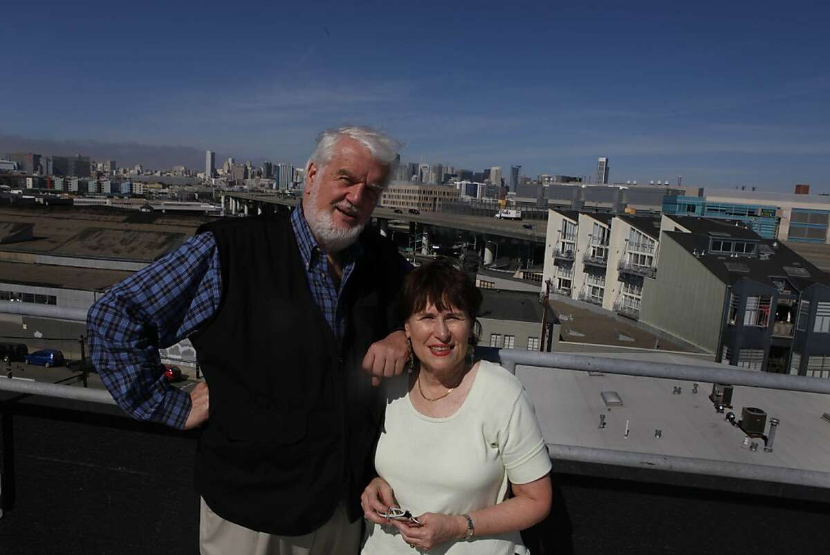 Bruce Brugmann, owner of the Bay Guardian, and Jean Dibble, his wife, are seen on the roof of the Bay Guardian offices on Friday, October 15, 2010 in San Francisco, Calif.