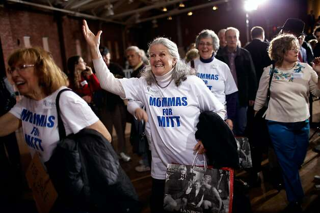 "Supporters of Republican presidential candidate, former Massachusetts Gov. Mitt Romney wait for his arrival before a campaign rally at the Radisson Hotel April 24, 2012 in Manchester, New Hampshire. In a speech titled ""A Better America Begins Tonight,"" Romney will deliver remarks on the day as primary voters head to the polls in New York, Connecticut, Delaware, Rhode Island and Pennsylvania. Photo: Chip Somodevilla, Getty Images"