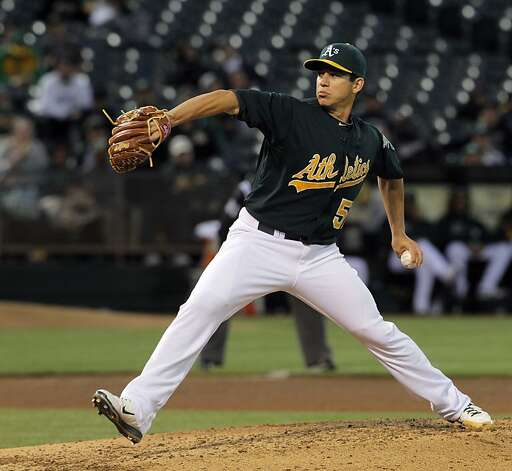 A's Tommy Milone started the game and held the White Sox hitless through four innings. The Oakland Athletics played the Chicago White Sox at the O.co Coliseum in Oakland, Calif., on Tuesday, April 24, 2012. The A's defeated the Sox 2-0. Photo: Carlos Avila Gonzalez, The Chronicle