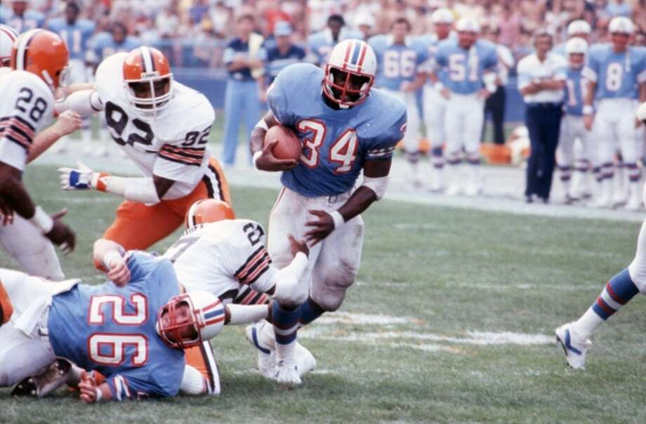 Earl CampbellPosition:Running backTime with the Oilers:1978-84Year of HOF induction:1991The legendary running back who was the heart of the Luv Ya Blue era racked up a litany of accolades while with the Oilers.