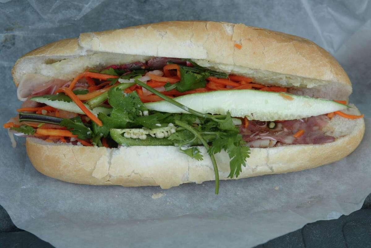Alpha Bakery & Deli Cuisine: Vietnamese Dish:Vietnamese banh mi sandwich Entree price range: $ Where: 11209 Bellaire Phone: 281-988-5222