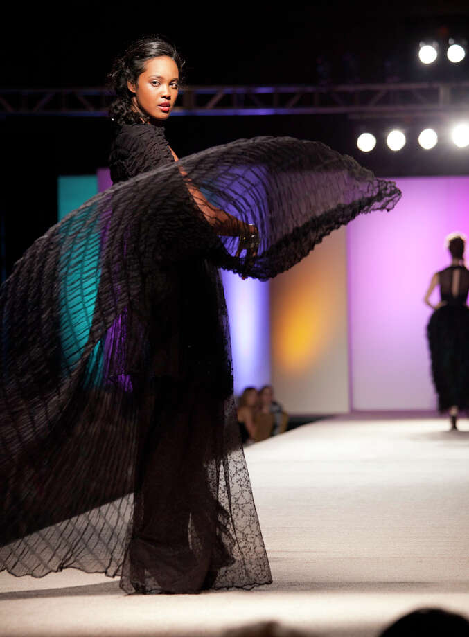 "Fashions from Adriana Mendez's ""Fantôme"" collection earned her third place in the design category. Photo: J. Michael Short, For The Express-News / THE SAN ANTONIO EXPRESS-NEWS"