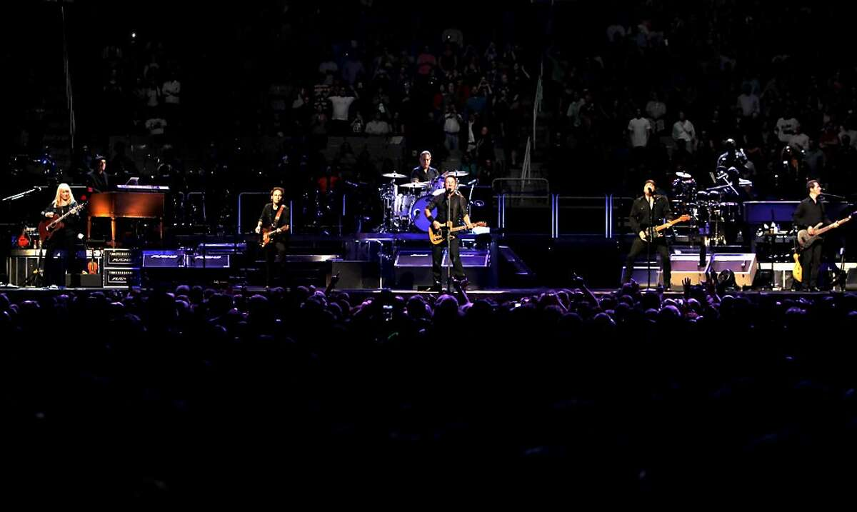 Bruce Springsteen and the E Street band play a concert, on Tuesday April 24, 2012, at HP Pavilion in San Jose, Ca.