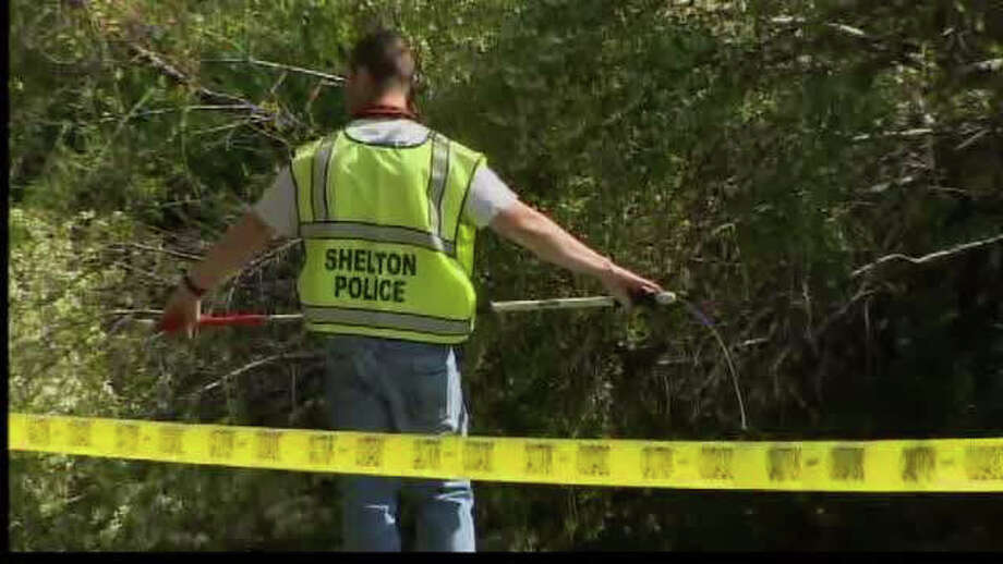 Shelton police investigate after a woman was bitten by a dog on Forest Parkway on Tuesday April 24, 2012. Photo: WTNH News 8