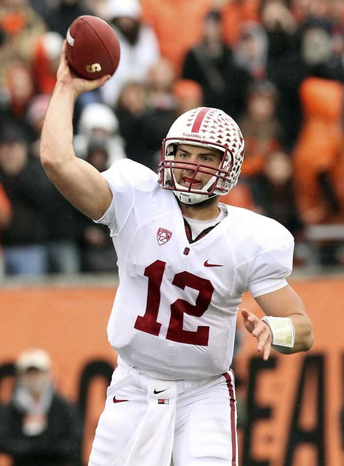 FOR USE AS DESIRED WITH NFL DRAFT STORIES - FILE - In this Nov. 5, 2011, file photo, Stanford quarterback Andrew Luck throws a pass during the first half of an NCAA college football game against Oregon State in Corvallis, Ore. Luck is a top prospect in the upcoming NFL football draft. (AP Photo/Don Ryan, File) Photo: Don Ryan, Associated Press