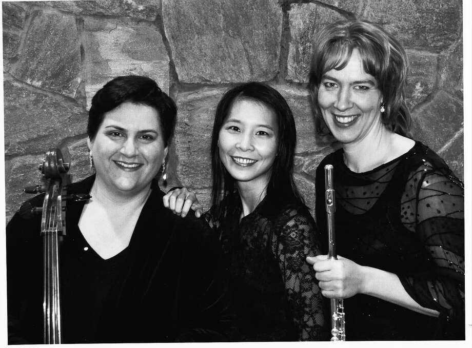 The Trio Traverso is scheduled to perform in a Weston house concert May 6. From left are cellist Katherine Cherbas, pianist Stephanie Shih-yu Cheng and flutist Tanya Dusevic Witek. Photo: Contributed Photo / Westport News