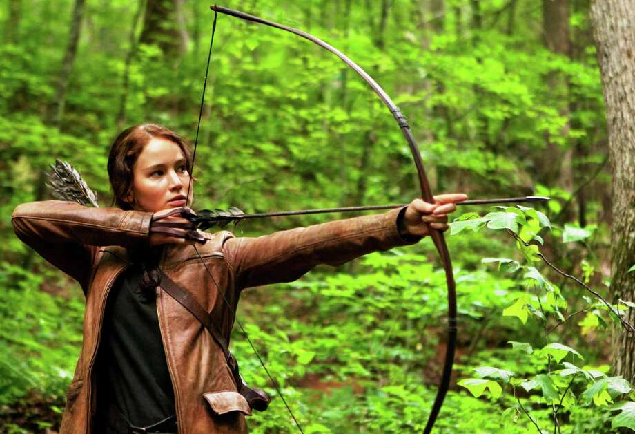 "Jennifer Lawrence puts a fine point on it as Katniss Everdeen in ""The Hunger Games."""
