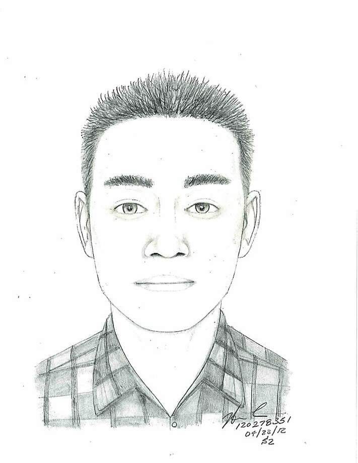 A sketch released by the San Francisco Police Department of one of two suspects of an assault hate crime. Photo: -, San Francisco Police Department