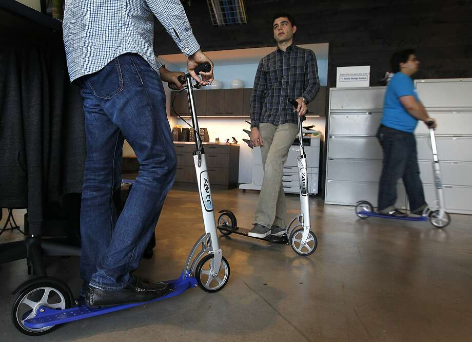 Electric scooter at Dropbox HQ in San Francisco catches on fire
