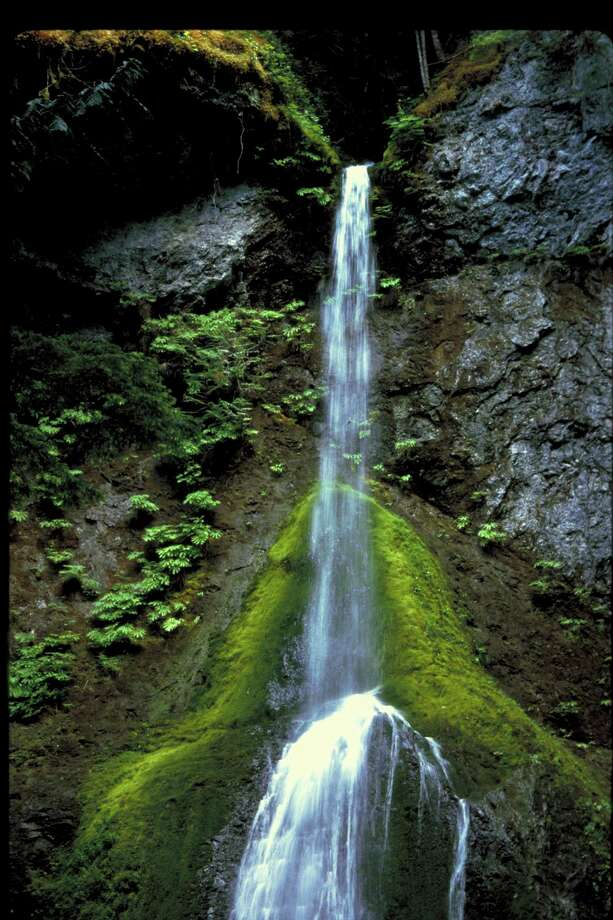 Marymere Falls in Olympic National Park west of Port Angeles is one of several waterfalls with public access on the Olympic Peninsula.  / Handout website