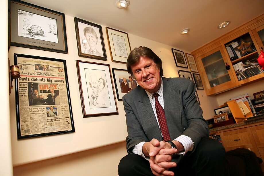 Democratic strategist Garry South inside his home office at Santa Monica, CA. Photo: Ted Soqui, Special To The Chronicle