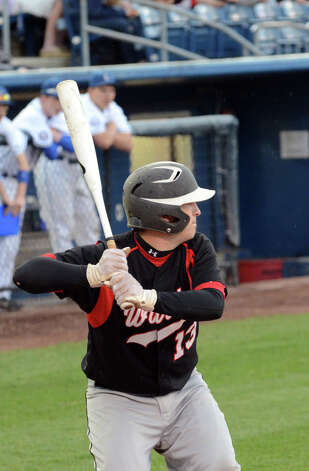Fairfield Warde's Aaron Marks (13) at bat during the baseball game against Ludlowe at the Ballpark at Harbor Yard in Bridgeport on Wednesday, Apr. 25, 2012. Photo: Amy Mortensen / Connecticut Post Freelance