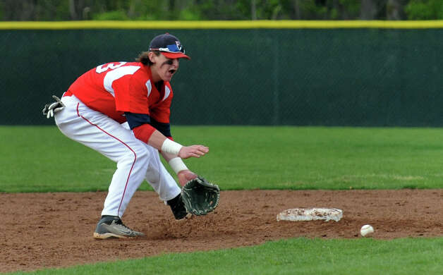 Highlights from baseball action between Jonathan Law and Foran in Milford, Conn. on Wednesday April 25, 2012. Photo: Christian Abraham / Connecticut Post