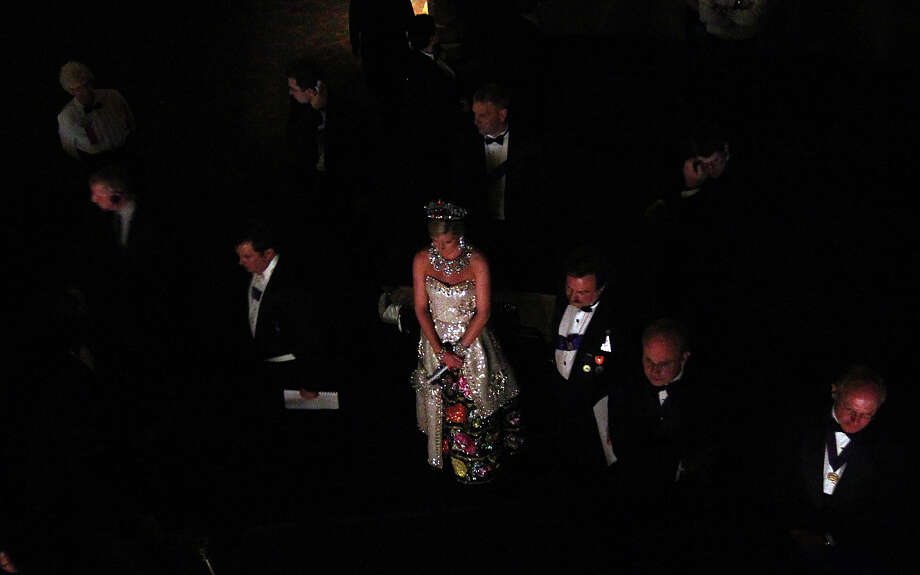 Katherine Jane Molak, Duchess of Lustrous Finery, awaits her turn to take the stage at the 2012 Coronation of the Order of the Alamo at the Majestic Theater on Wednesday, Apr. 25, 2012. Photo: Kin Man Hui, Kin Man Hui/Express-News / ©2012 San Antonio Express-News
