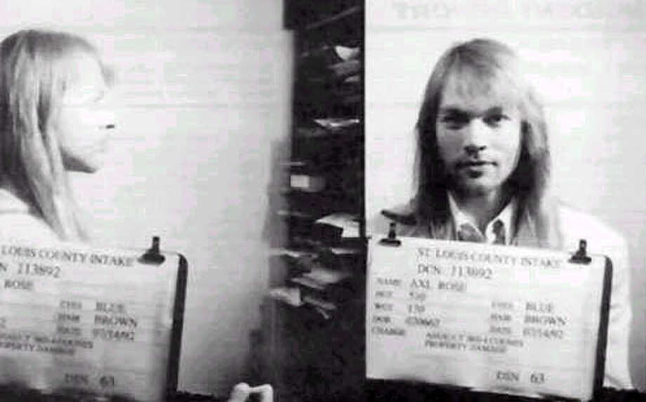 Axl Rose (1992): This time he was arrested in St. Louis for inciting a riot, which he did at least once a week during Guns N' Roses' glory years.
