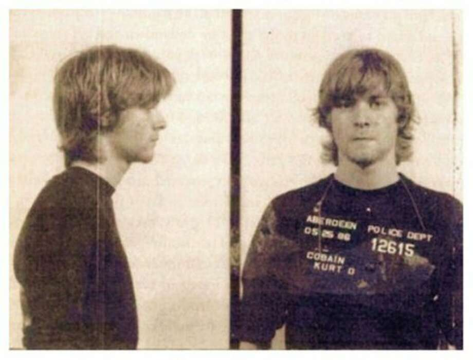 Kurt Cobain (1986): Arrested for trespassing. Courtney Love surprisingly not involved.