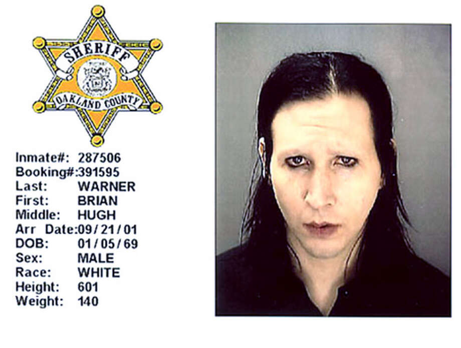 Marilyn Manson (2001): Arrested for gyrating against a security guard's head with his genitals.
